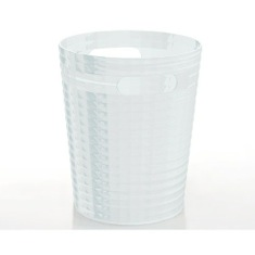 Free Standing Waste Basket Without Cover in Transparent Finish