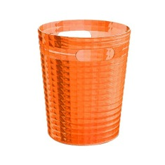 Free Standing Waste Basket Without Cover in Orange Finish