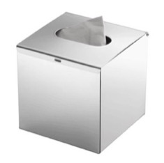 Gedy 2302-13 Modern Square Polished Chrome Tissue Box Cover