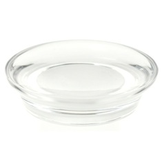Round Soap Dish Made From Thermoplastic Resins in Transparent Finish