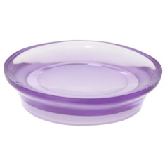 Round Soap Dish Made From Thermoplastic Resins in Purple Finish