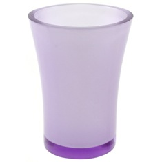 Round Toothbrush Holder Made From Thermoplastic Resins in Purple Finish