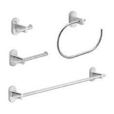 Chrome 4 Piece Hardware Set