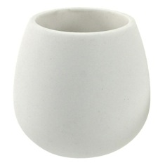 Toothbrush Holder Made From Thermoplastic Resins and Stone In White Finish