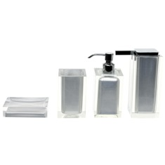 Silver Finish Accessory Set Crafted of Thermoplastic Resins