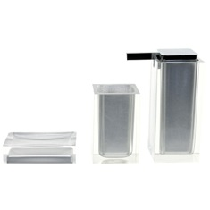 Silver Finish Accessory Set Made With Thermoplastic Resins