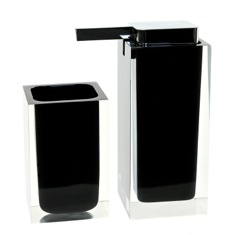 Black Two Pc. Accessory Set Made With Thermoplastic Resins