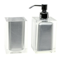 Silver Finish 2 Pc. Accessory Set Made With Thermoplastic Resins