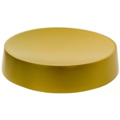 Gold Finish Free Standing Round Soap Dish in Resin