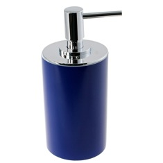 Blue Free Standing Round Soap Dispenser in Resin