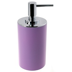 Lilac Free Standing Round Soap Dispenser in Resin