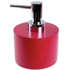 Ruby Red Short and Round Soap Dispenser in Resin