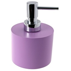 Lilac Round and Wide Soap Dispenser in Resin