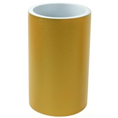 Round Gold Finish Free Standing Bathroom Toothbrush Holder
