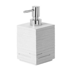 Square White Soap Dispenser Made From Thermoplastic Resin