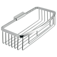 Rectangular Chromed Stainless Steel Wire Shower Basket