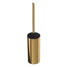 Wall Mounted Gold Finish Brass Toilet Brush