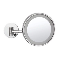 Wall Mounted Single Face 3x Makeup Mirror with LED, Hardwired