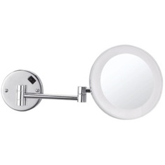 Round Wall Mounted 3x Makeup Mirror with LED, Hardwired