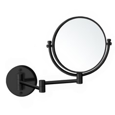 Matte Black Double Sided Wall Mounted 7x Makeup Mirror
