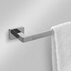 17 Inch Modern Chrome Towel Bar