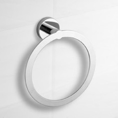 Modern Polished Chrome Towel Ring
