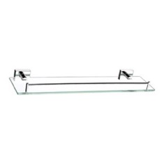 20 Inch Glass Shelf With Chrome Mounting