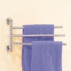 14 Inch Triple Swivel Towel Bar