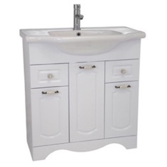 Nameeks CLA-F02 31 Inch Floor Standing White Vanity Cabinet With Fitted Sink CLA-F02