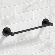 13 Inch Modern Matte Black Towel Bar