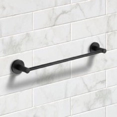 19 Inch Matte Black Towel Bar