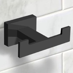 Modern Matte Black Bathroom Hook
