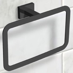 Modern Matte Black Towel Ring