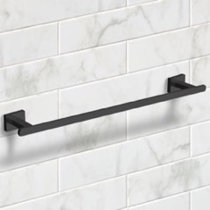 21 Inch Modern Matte Black Towel Bar