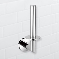 Round Chrome Vertical Toilet Paper Holder