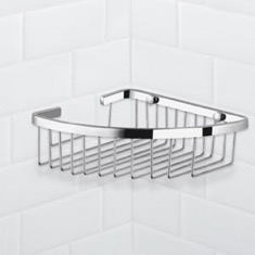 Chrome Corner Wire Shower Basket