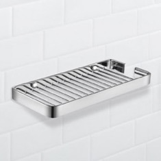 Wall Mounted Chrome Wire Shower Basket
