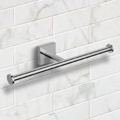 Polished Chrome Double Toilet Paper Holder