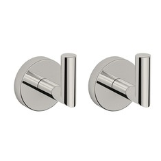 Set of Satin Nickel Bathroom Hooks