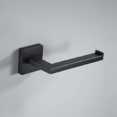 Modern Matte Black Toilet Paper Holder