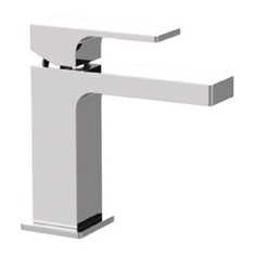 Modern Single Handle Bathroom Faucet in Chrome