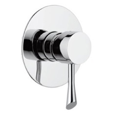 Built-In Shower Mixer With Single Lever and Deluxe Flange