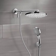 Dual Shower Head Set With 2-Way Diverter Shower Head Arm