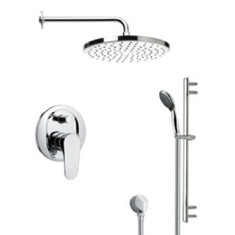 Remer SFR7048 Round Polished Chrome Shower Faucet Set SFR7048