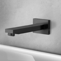Matte Black Wall Mount Bathtub Spout