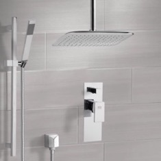 Remer SFR7018 Chrome Shower System with Ceiling 14