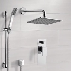 Chrome Shower System with 8