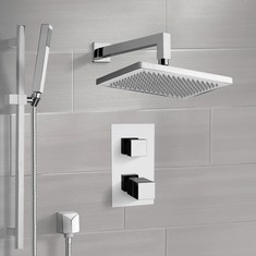 Thermostatic Shower System with 9.5