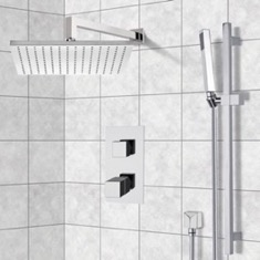 Thermostatic Shower System with 12