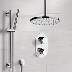 Remer SFR7405 Chrome Thermostatic Shower System with 8